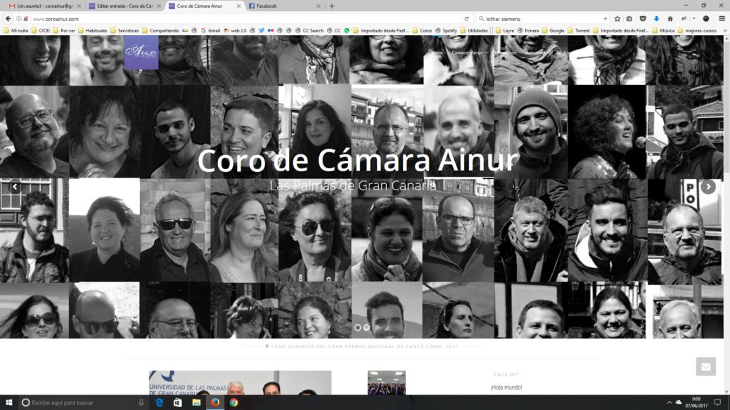 Nueva web del Coro de Cámara Ainur