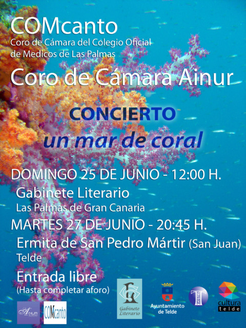 """Cartel Concierto """"Un mar de coral"""""""