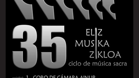 Ainur es el coro encargado de abrir la 35ª edición del Ciclo de Música Sacra de Hondarribia
