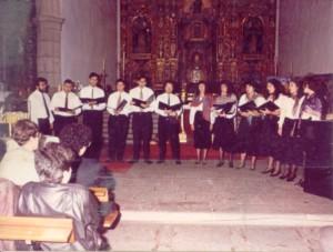 Primeras fotos del coro en 1991