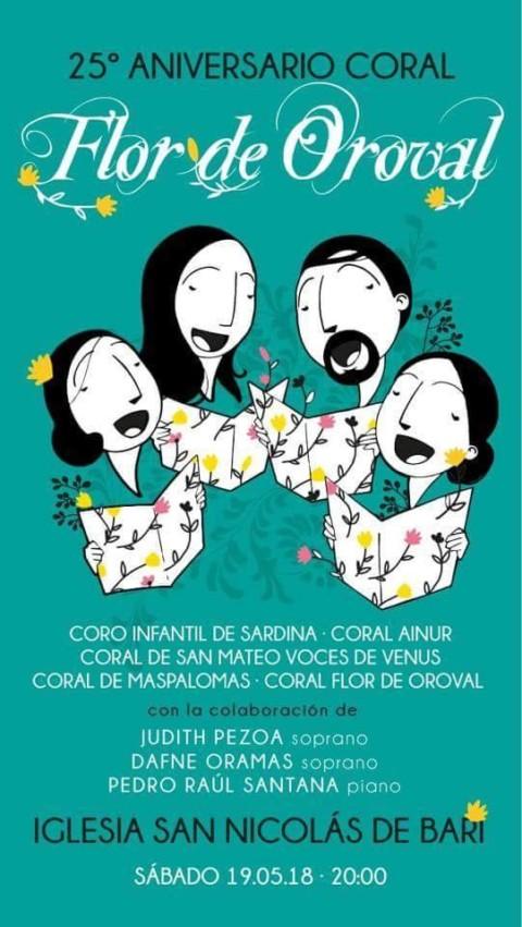 Ainur colabora en el 25 aniversario de la Coral Flor de Oroval